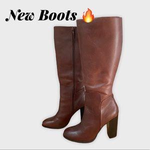 Liz & Co Comfortable Brown Heeled Boots